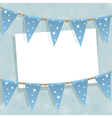 winter bunting decoration vector image vector image