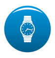 wristwatch man icon blue vector image vector image