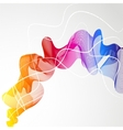 Abstract colorful background with wave of lines vector image
