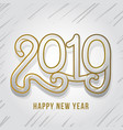 2019 happy new year vector image vector image