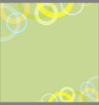 abstract circle loop on green soft background vector image vector image