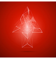 Abstract transparent arrow on red background vector image