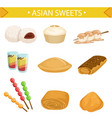 asian sweets set traditional desserts of vector image