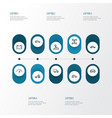 auto outline icons set collection of crossover vector image vector image