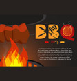 bbq party background graphic greeting card or vector image vector image
