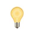 Bulb on vector image