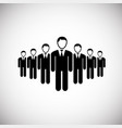 businessmans on white background vector image vector image