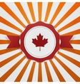 Canada patriotic Emblem with Ribbon vector image vector image
