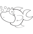 Cartoon Happy Fish vector image vector image
