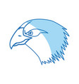 cartoon head bald eagle bird national american vector image