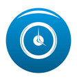 clock deadline icon blue vector image