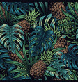 colorful vintage tropical seamless pattern vector image vector image