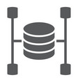 data warehouse glyph icon data and analytics vector image vector image
