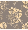 Decorative floral background seamless vector image