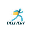 delivery service logo template vector image vector image