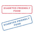 diabetes friendly food textile stamps vector image vector image
