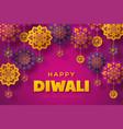 diwali festival typographic design vector image vector image