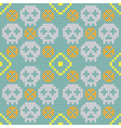 embroidery texture with skulls vector image vector image
