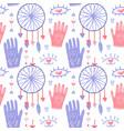 flat seamless pattern boho background vector image