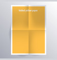folded paper template vector image