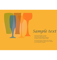 Four glasses vector image vector image