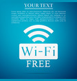 free wifi sign icon wireless network wifi zone vector image vector image