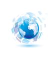 globe digital vector image vector image