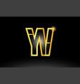 gold black alphabet letter yv y v logo vector image vector image