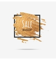 Gold sale background in frame vector image vector image