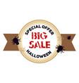 halloween big sale logo cartoon style vector image vector image