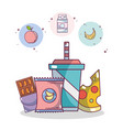 junk food and snacks vector image