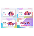loving relations happiness surprise love website vector image vector image