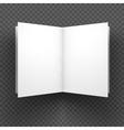 Magazine mockup on transparent background vector image vector image