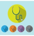 Medical icon stethoscope tool vector image vector image