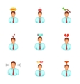Mental issue icons set cartoon style vector image vector image