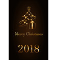 merry christmas celebration background gold xmas vector image vector image