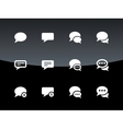 Message bubble icons on black background vector image