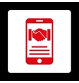 Mobile Agreement Icon vector image