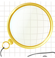 monocle on a plaid background vector image vector image