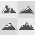Mountain gray icons with black shadow vector image vector image