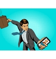 office worker man talks with boss vector image vector image