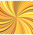 orange abstract psychedelic swirl stripe vector image vector image