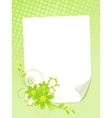 Paper and flowers vector image