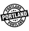 portland black round grunge stamp vector image vector image