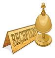 recepcionar receptionar resize vector image vector image