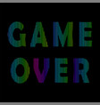 retro game over neon sign gaming concept video vector image vector image