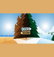 road junction and warm or cold destination vector image vector image