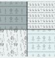 robot doodles pattern set vector image vector image