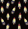 rocket ship background vector image vector image