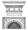 roman-doric capital an antique design vintage vector image vector image